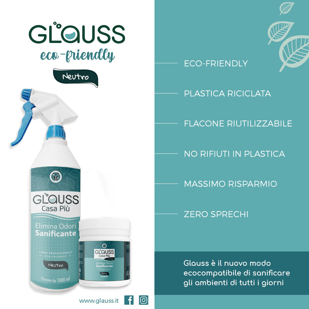 glauss casa più neutro elimina odori sanificante punti di forza