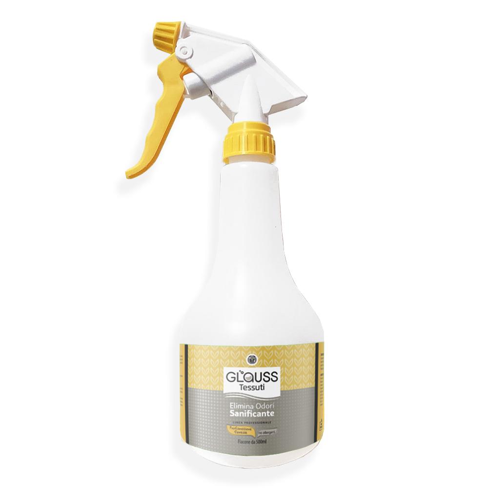 glauss tessuti flacone nebulizzatore 500 ml di soluzione elimina odori sanificante