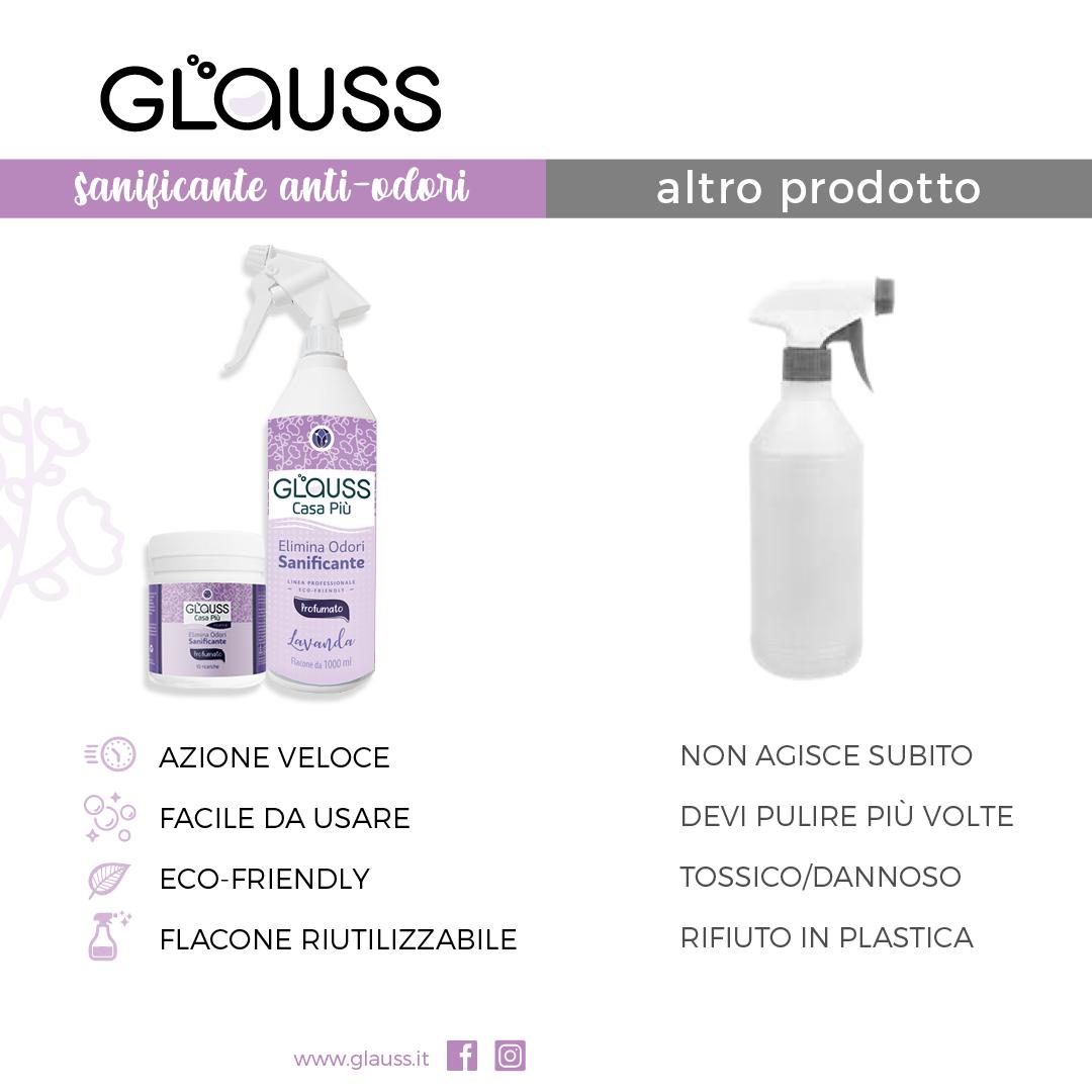 glauss casa più lavanda elimina odori sanificante tabella comparativa