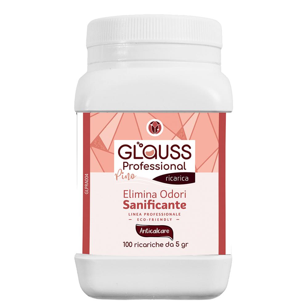 glauss professional anticalcare 100 ricariche 100 litri di soluzione elimina odori sanificante
