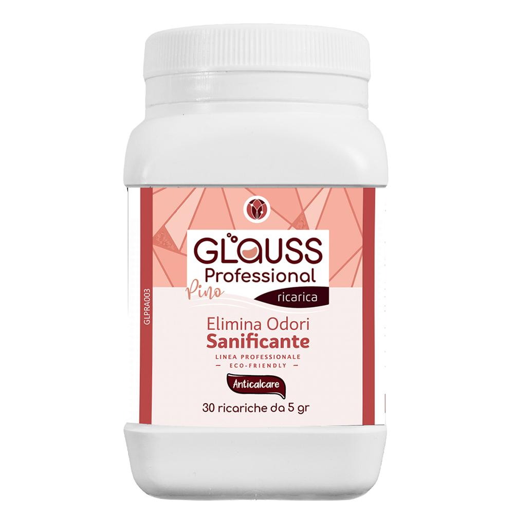 glauss professional anticalcare 30 ricariche 30 litri di soluzione elimina odori sanificante