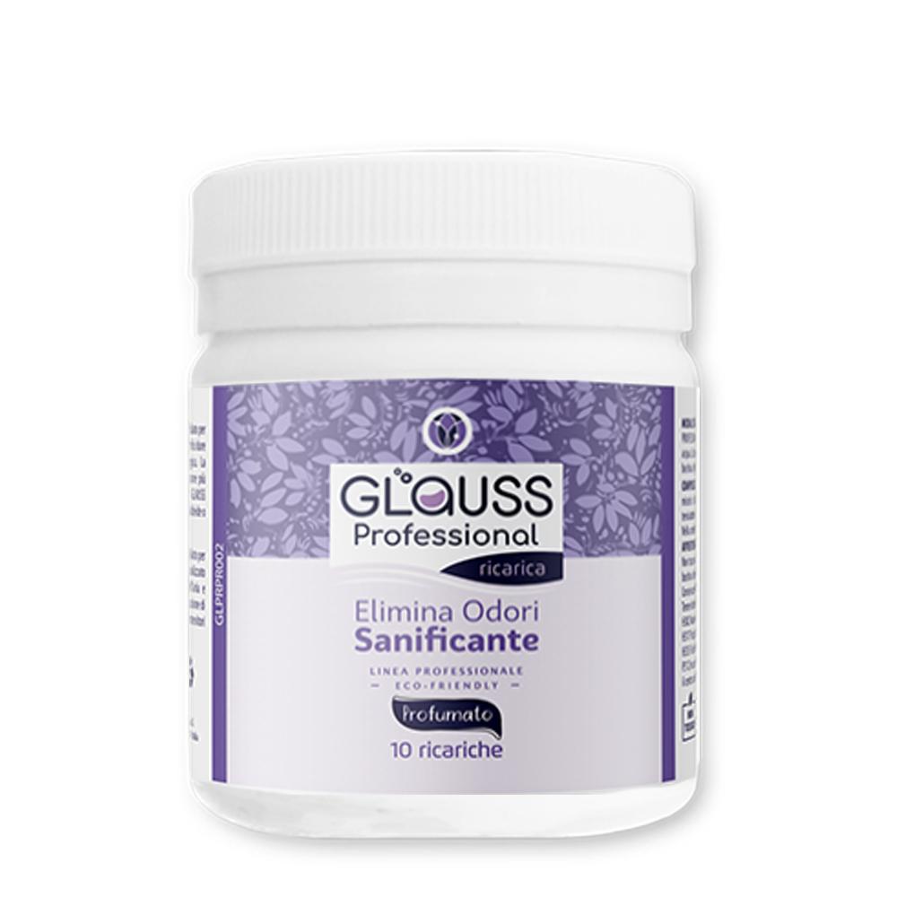 glauss professional loto 10 ricariche 10 litri di soluzione elimina odori sanificante
