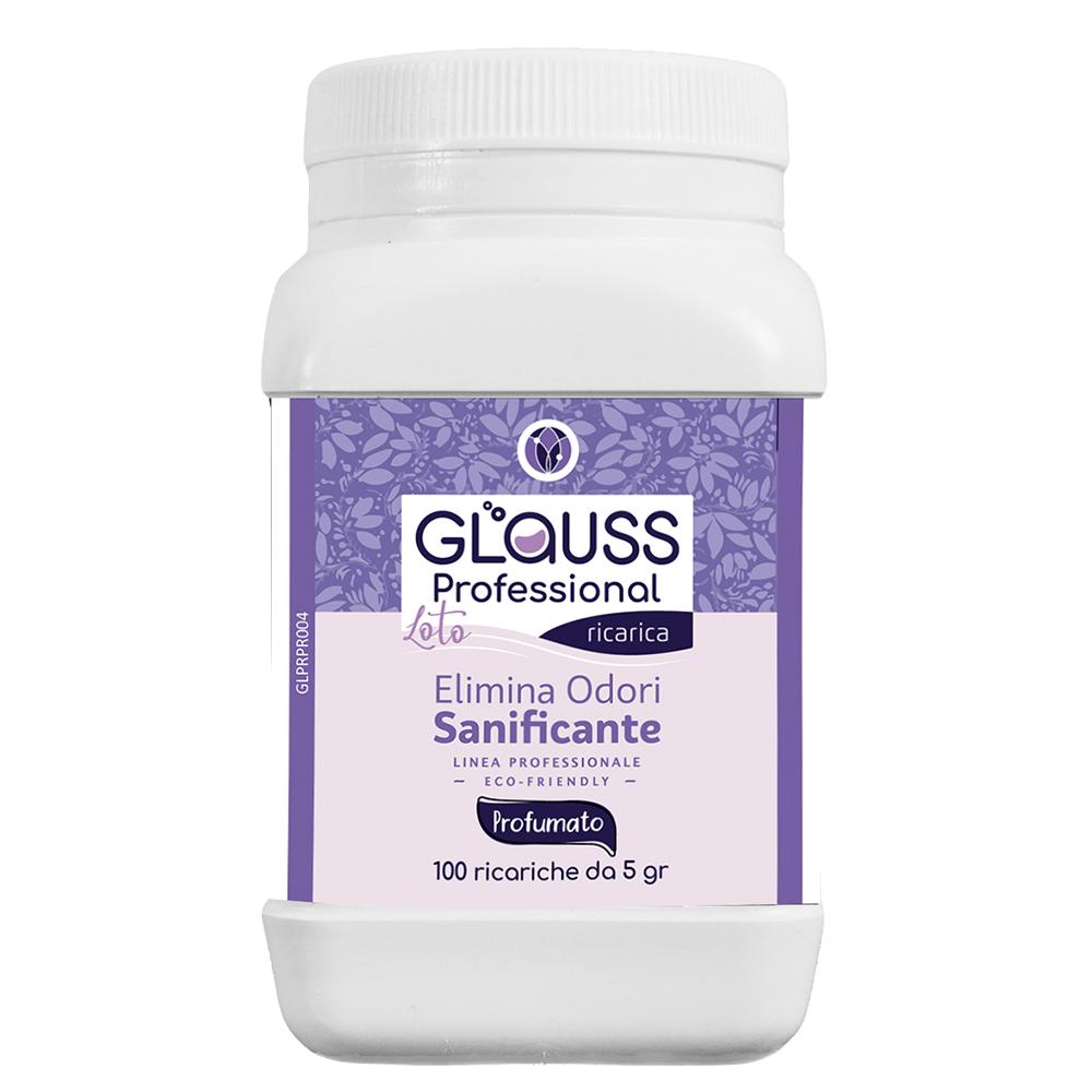 glauss professional loto 100 ricariche 100 litri di soluzione elimina odori sanificante