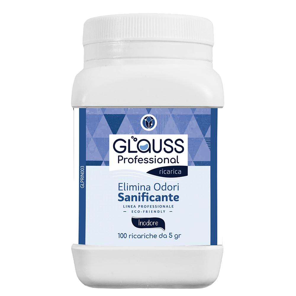 glauss professional neutro 100 ricariche 100 litri di soluzione elimina odori sanificante