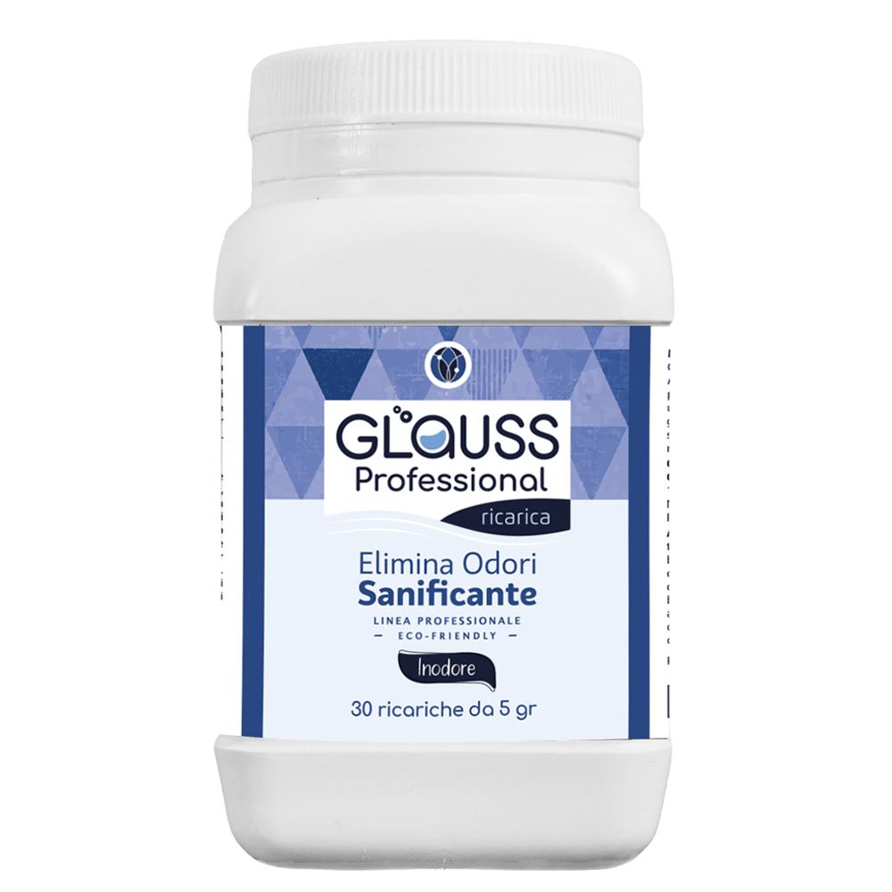 glauss professional neutro 30 ricariche 30 litri di soluzione elimina odori sanificante